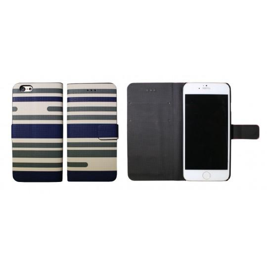 Apple iPhone 6/6S - Preklopna torbica (61) - Lines green and blue