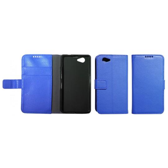 Sony Xperia Z1 Compact - Preklopna torbica (WLG) - modra