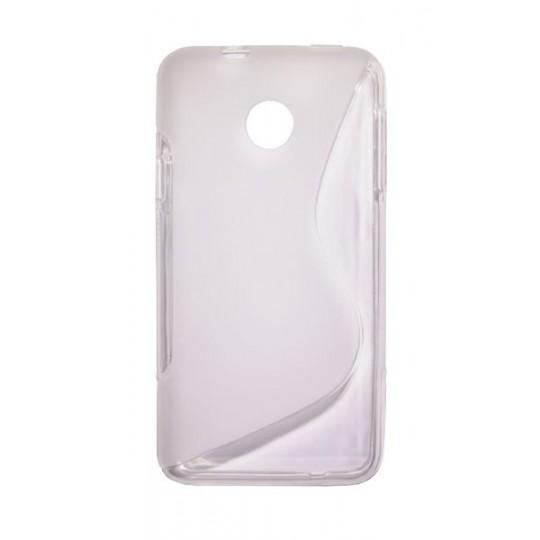 Huawei Ascend Y330 - Gumiran ovitek (TPU) - belo-prosojen SLine