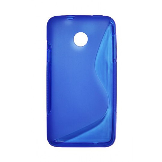 Huawei Ascend Y330 - Gumiran ovitek (TPU) - modro-prosojen SLine