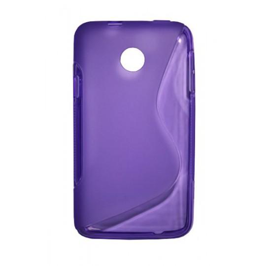 Huawei Ascend Y330 - Gumiran ovitek (TPU) - vijolično-prosojen SLine