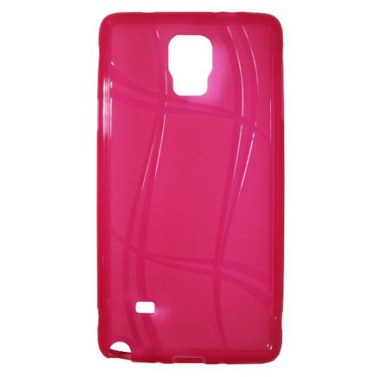 Samsung Galaxy Note 4 - Gumiran ovitek (TPU) - roza-prosojen WLine