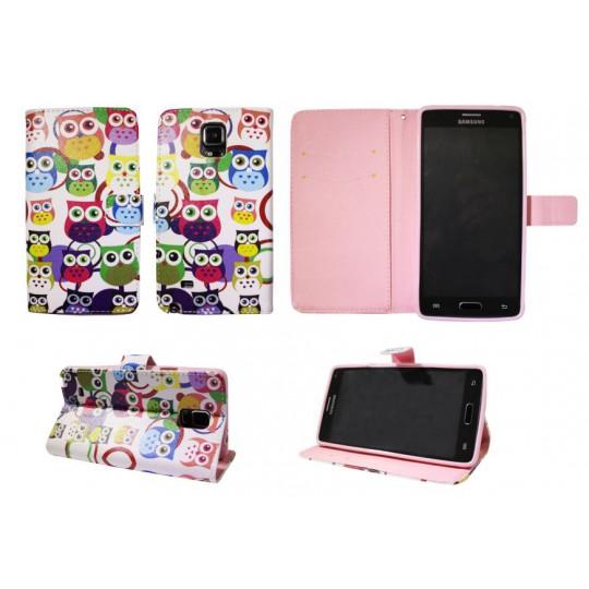 Samsung Galaxy Note 4 - Preklopna torbica (WLGP) - Colorfull owls