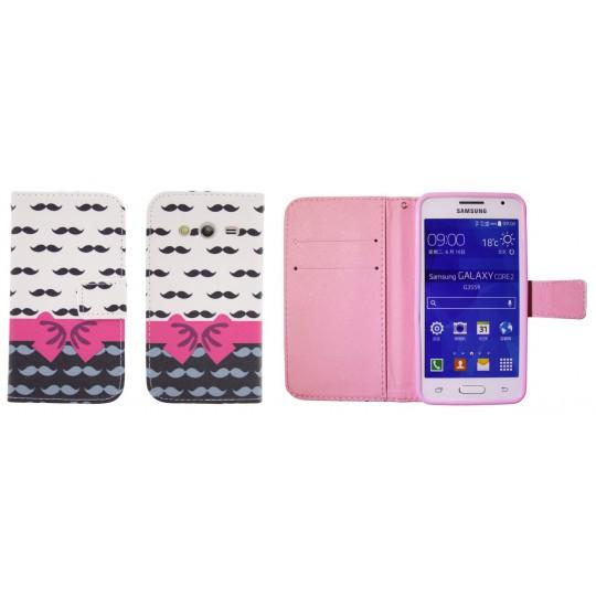 Samsung Galaxy Core 2 - Preklopna torbica (WLGP) - Mustache