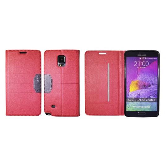 Samsung Galaxy Note 4 - Preklopna torbica (47G) - rdeča