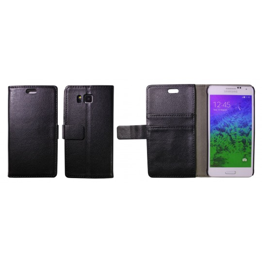 Samsung Galaxy Alpha - Preklopna torbica (WL) - črna