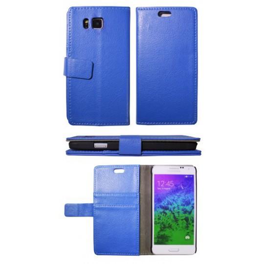 Samsung Galaxy Alpha - Preklopna torbica (WL) - modra