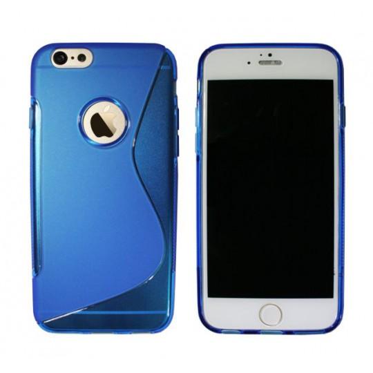 Apple iPhone 6Plus/6SPlus - Gumiran ovitek (TPU) - modro-prosojen SLine