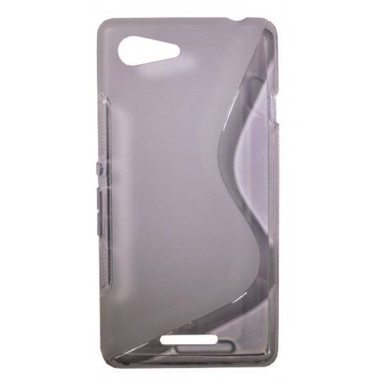Sony Xperia E3 - Gumiran ovitek (TPU) - belo-prosojen SLine