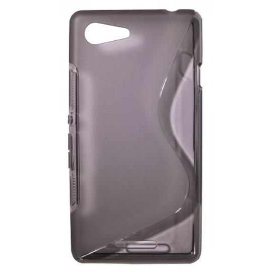 Sony Xperia E3 - Gumiran ovitek (TPU) - sivo-prosojen SLine