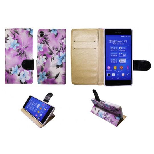 Sony Xperia Z3 - Preklopna torbica (64) - vijolična