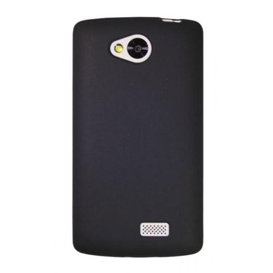 LG F60 - Gumiran ovitek (TPU) - črn mat