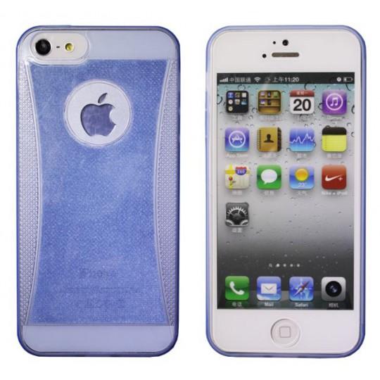 Apple iPhone 5/5S/SE - Gumiran ovitek (19) - moder