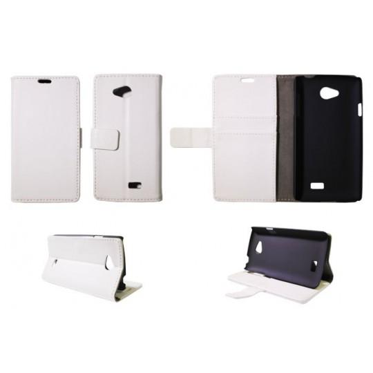 LG F60 - Preklopna torbica (WL) - bela