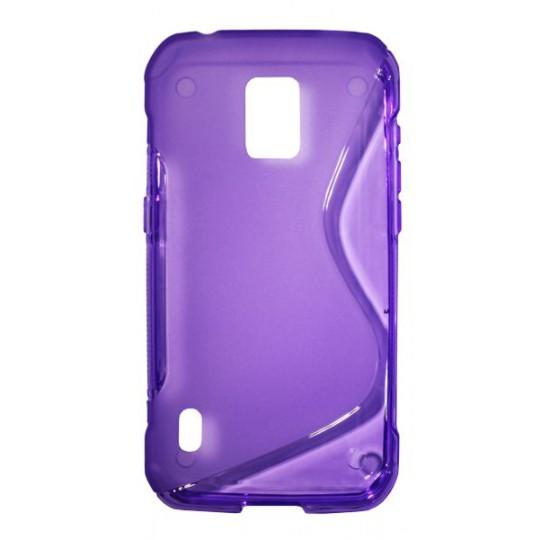 Samsung Galaxy S5 Active - Gumiran ovitek (TPU) - vijolično-prosojen SLine