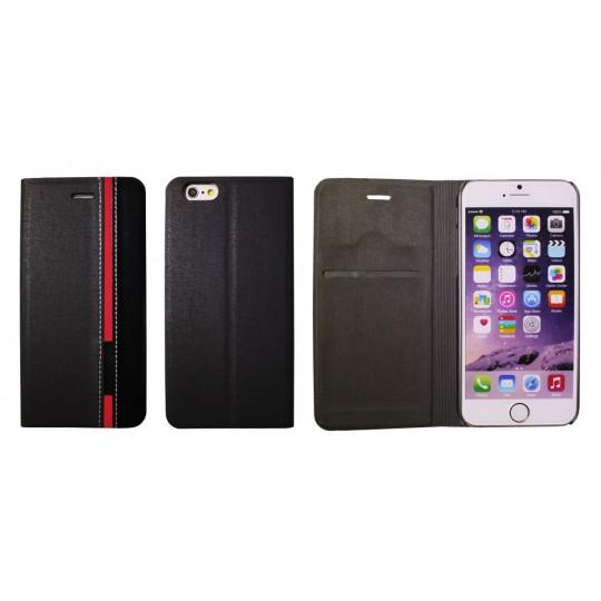 Apple iPhone 6/6S - Preklopna torbica (66) - črna