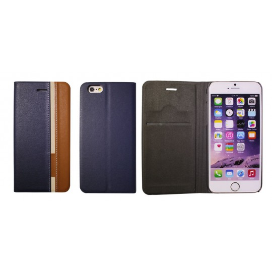 Apple iPhone 6/6S - Preklopna torbica (66) - modra