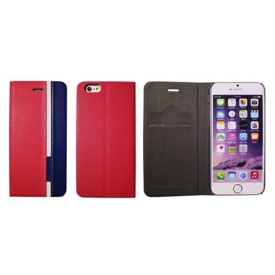 Apple iPhone 6/6S - Preklopna torbica (66) - rdeča
