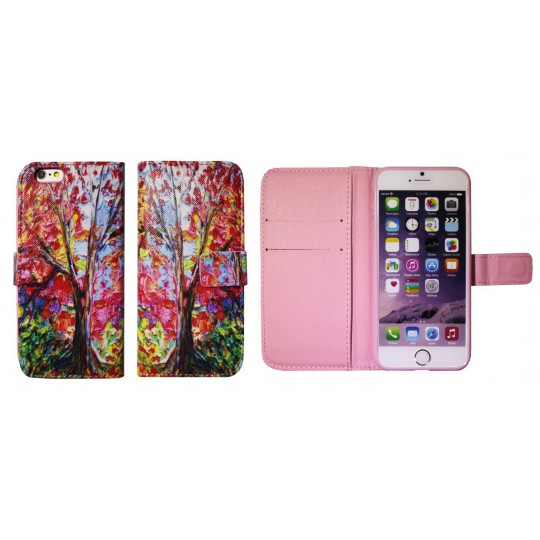 Apple iPhone 6/6S - Preklopna torbica (74) - Drevo