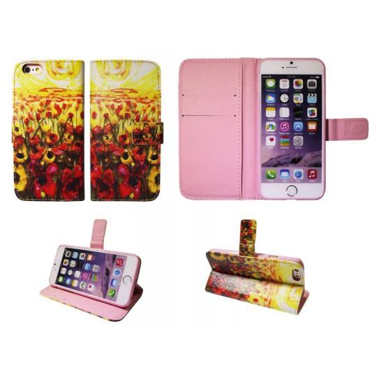 Apple iPhone 6/6S - Preklopna torbica (74) - Mak