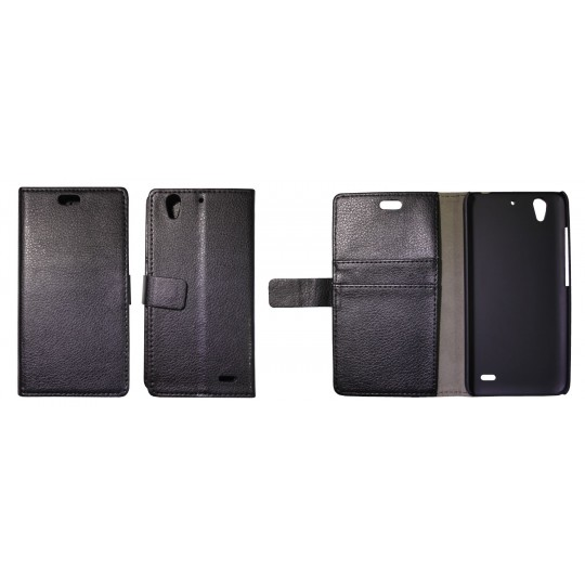 Huawei Ascend G630 - Preklopna torbica (WL) - črna