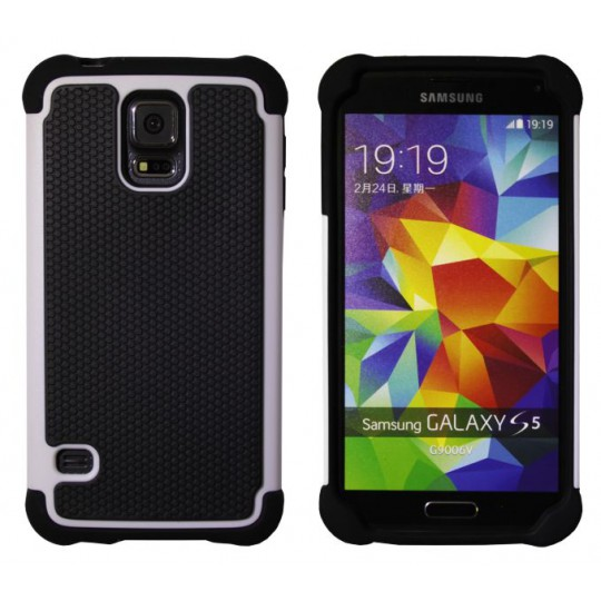 Samsung Galaxy S5/S5 Neo - Gumiran ovitek (25) - bel