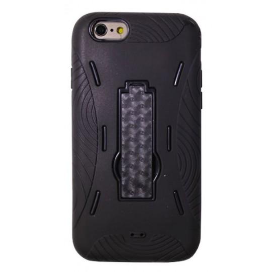 Apple iPhone 6/6S - Gumiran ovitek (26) - črn