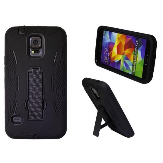 Samsung Galaxy S5/S5 Neo - Gumiran ovitek (26) - črn