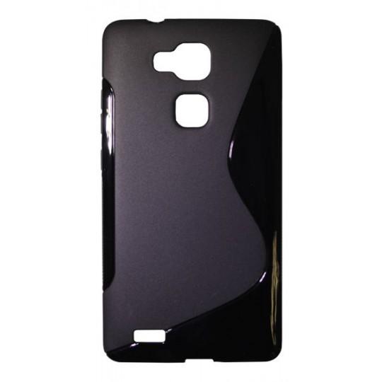 Huawei Mate 7 - Gumiran ovitek (TPU) - črn SLine