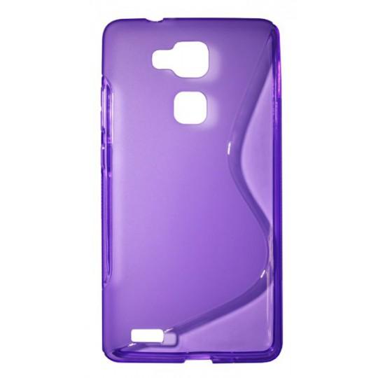 Huawei Mate 7 - Gumiran ovitek (TPU) - vijolično-prosojen SLine