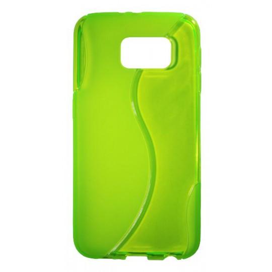 Samsung Galaxy S6 - Gumiran ovitek (TPU) - zeleno-prosojen SLine