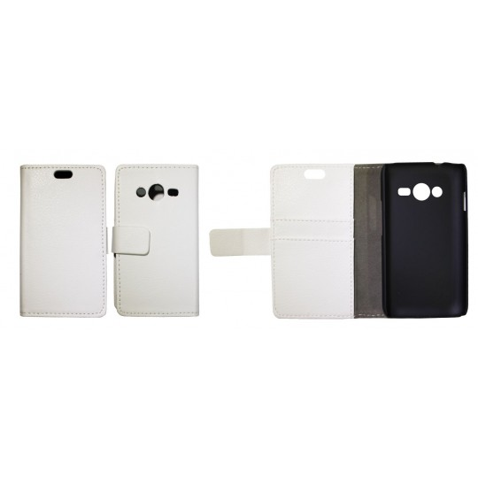 Samsung Galaxy Trend 2/S Duos 3/Trend 2 Lite - Preklopna torbica (WL) - bela