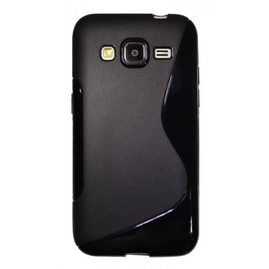 Samsung Galaxy Core Prime - Gumiran ovitek (TPU) - črn SLine