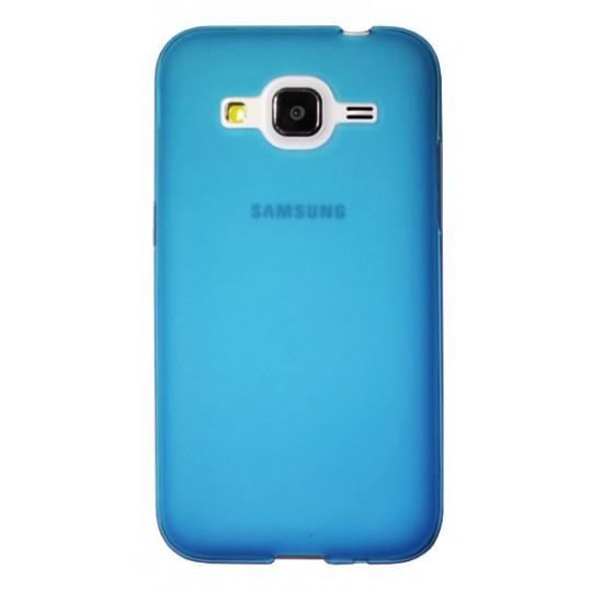 Samsung Galaxy Core Prime - Gumiran ovitek (TPU) - modro-prosojen mat