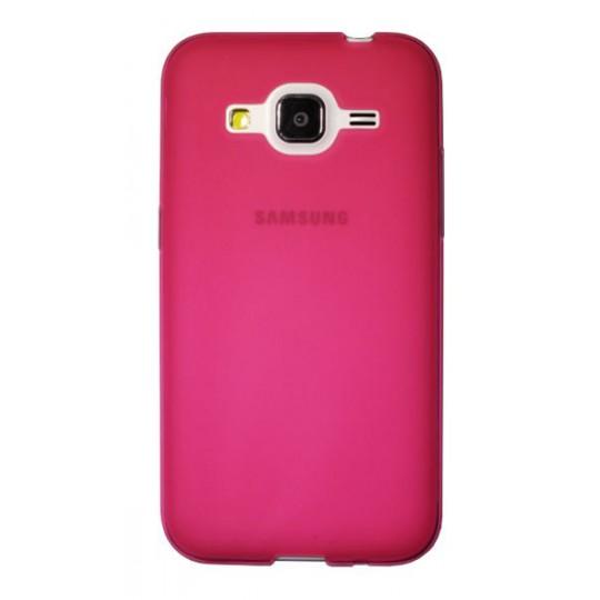 Samsung Galaxy Core Prime - Gumiran ovitek (TPU) - roza-prosojen mat