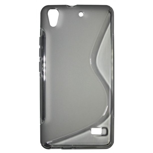 Huawei Ascend G620 - Gumiran ovitek (TPU) - sivo-prosojen SLine