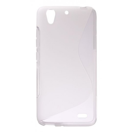 Huawei Ascend G630 - Gumiran ovitek (TPU) - belo-prosojen SLine