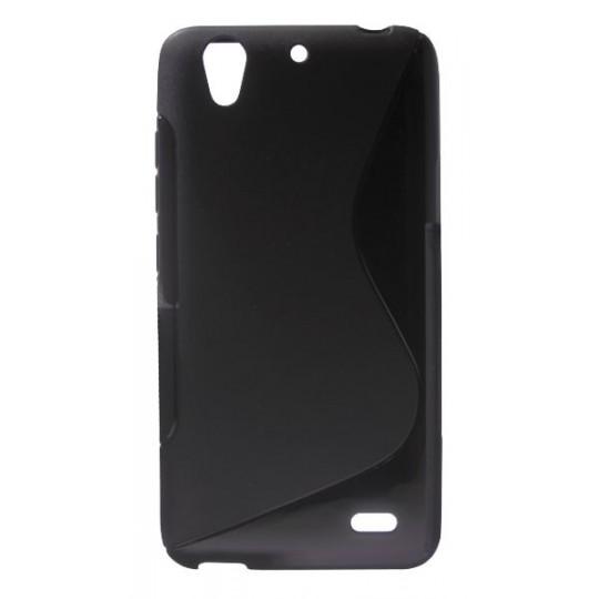 Huawei Ascend G630 - Gumiran ovitek (TPU) - črn SLine
