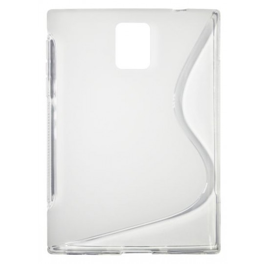 BlackBerry Passport - Gumiran ovitek (TPU) - belo-prosojen SLine