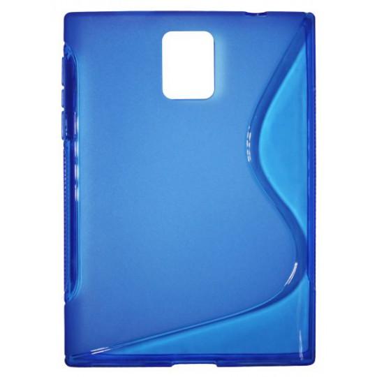BlackBerry Passport - Gumiran ovitek (TPU) - modro-prosojen SLine
