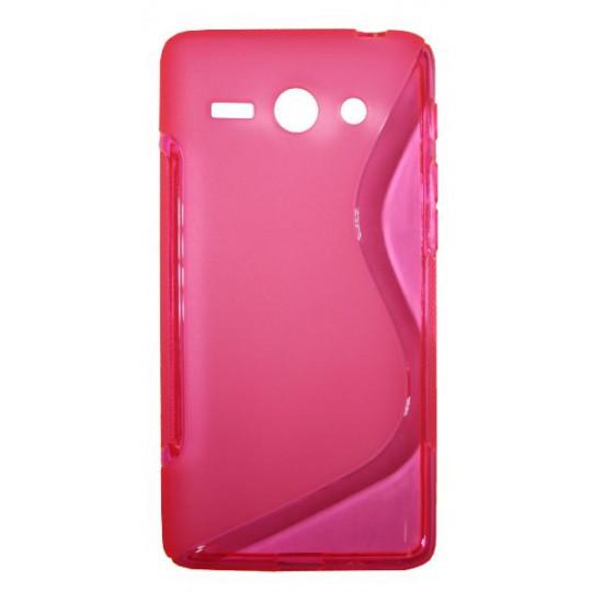 Huawei Ascend Y530 - Gumiran ovitek (TPU) - roza-prosojen SLine