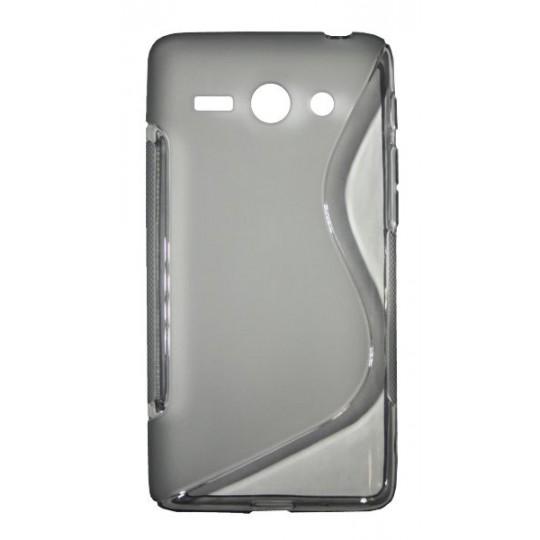 Huawei Ascend Y530 - Gumiran ovitek (TPU) - sivo-prosojen SLine