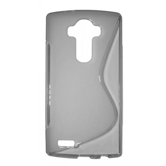 LG G4 - Gumiran ovitek (TPU) - sivo-prosojen SLine