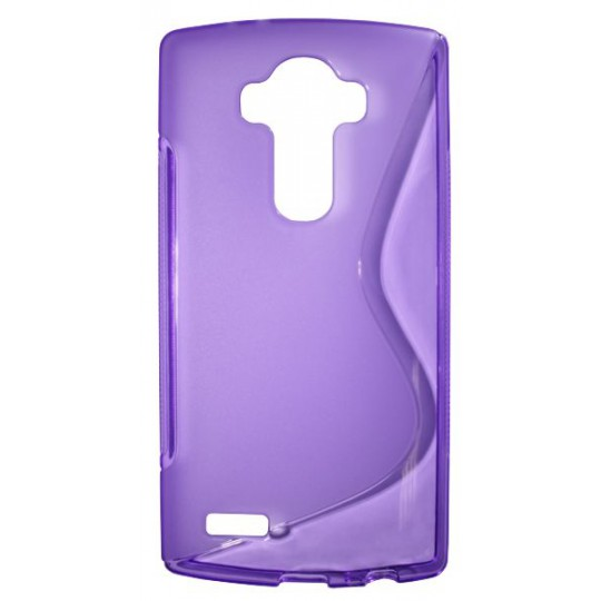LG G4 - Gumiran ovitek (TPU) - vijolično-prosojen SLine