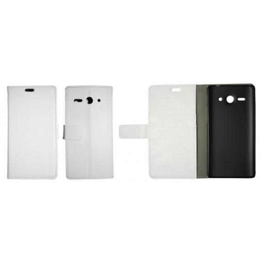 Huawei Ascend Y530 - Preklopna torbica (WL) - bela