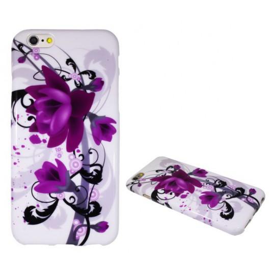 Apple iPhone 6/6S - Gumiran ovitek (TPUP) - Water lily