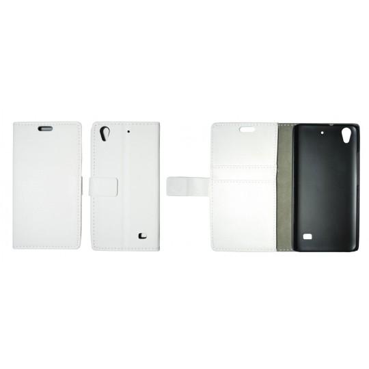 Huawei Ascend G620s - Preklopna torbica (WL) - bela