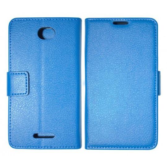 Sony Xperia E4 - Preklopna torbica (WLG) - modra