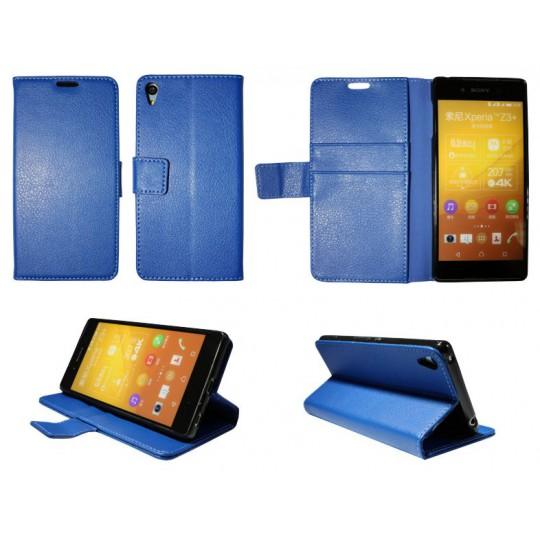 Sony Xperia Z3+ - Preklopna torbica (WLG) - modra