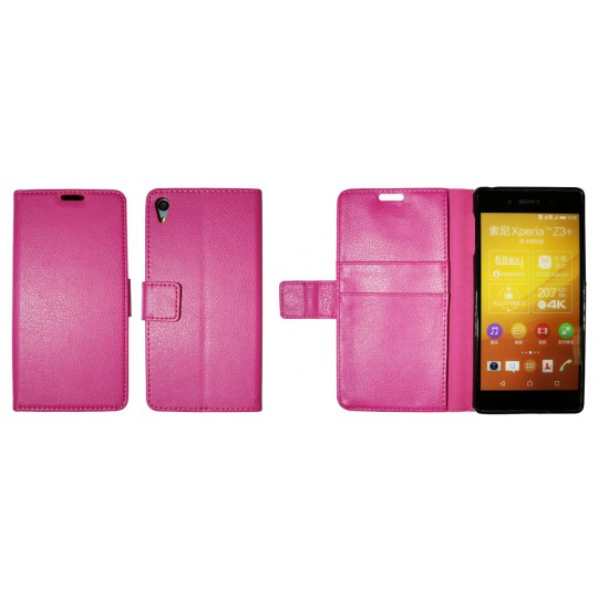 Sony Xperia Z3+ - Preklopna torbica (WLG) - roza